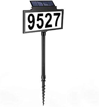 LeiDrail Illuminated, Waterproof Solar LED Address Sign