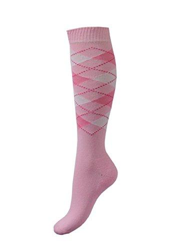 Esperado Kniestrumpf Karo in rosa-pink-weiß, Größe:39-42