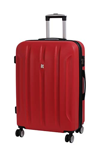 it luggage Proteus 8 Wheel Hard Shell Single Expander Suitcase with TSA Lock Maleta, 71 cm, 110 Liters, Rojo (Racing Red)