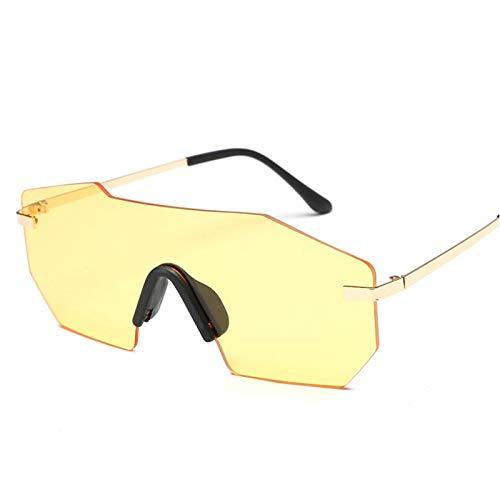 JFSZZ Lentes Gafas de Sol de Espejo Grande Gafas de Sol Gafas de Sol al Aire Libre equitación Ciclismo Gafas (Color : 4)