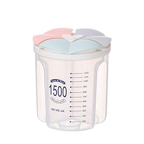 J.AKSO Aufbewahrungsbox für Küche, Vorratsdosen, luftdicht, transparent, mit Körnung, Aufbewahrungsbox für Lebensmittel