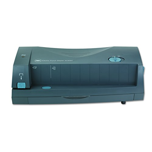 GBC 3230 Electric Paper Punch, Hole Punch, Adjustable, 2-3 Hole, 24 Sheet Punch Capacity, Gray (7704270), Small (1-24)