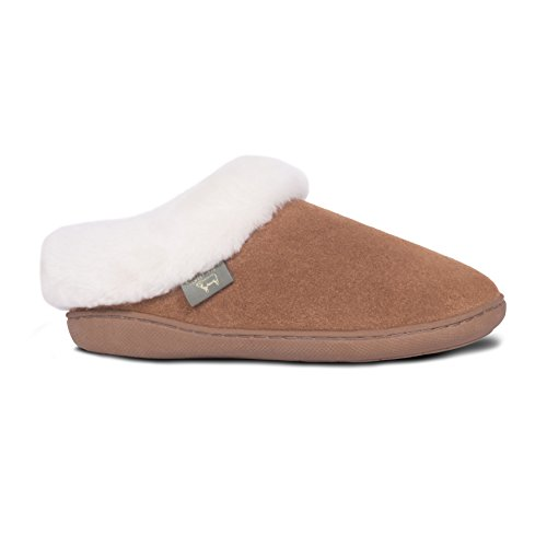Cloud Nine Sheepskin Women's Sunrise Clog Slipper, Chestnut, 6 M US