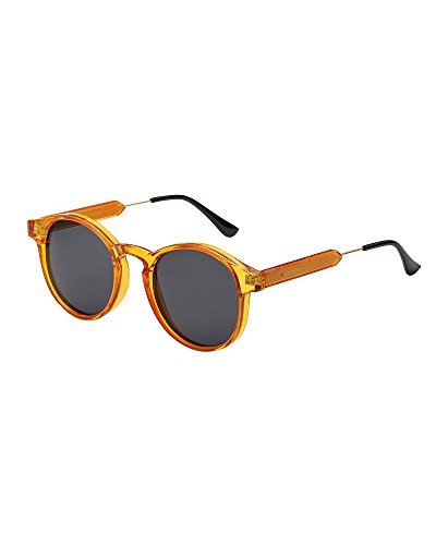 fashion sunglasses unisex sunglasses metal frame sunglasses uv400 protection sunglasses fashion sunglasses (turmeric/Black  58)