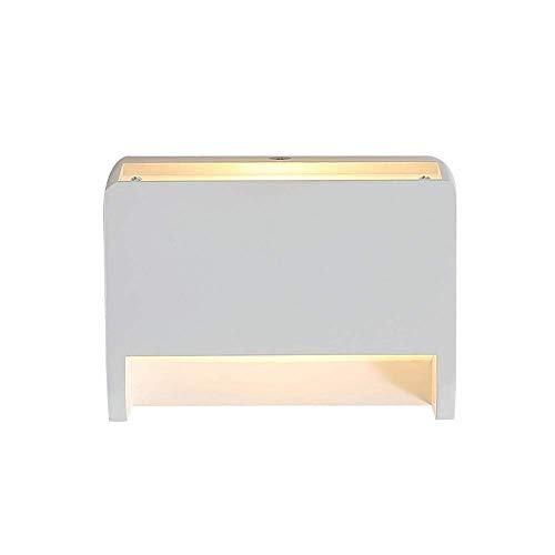 Accesorio de lámparas de pared LED de 7w, iluminación de pared posmoderna blanca con acabado de yeso, aplique de luces de decoración...
