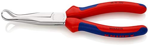KNIPEX 38 95 200 Mechanikerzange verchromt mit Mehrkomponenten-Hüllen 200 mm