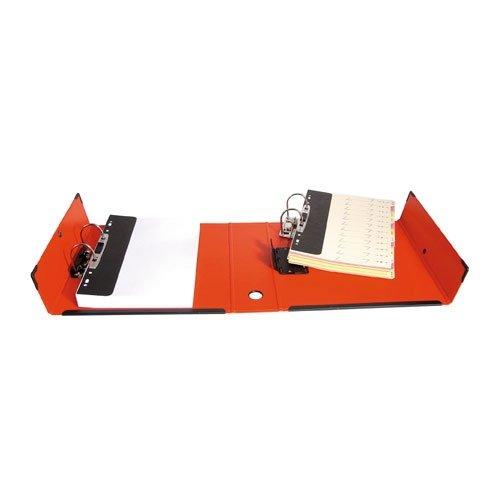 Classeur à deux leviers amovibles ARIANEX Mill-AR en PVC intérieur et extérieur rouge, dos de 9.5cm