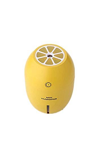 akopa USBミニ加湿器 超音波式 給水スポンジ4本付(装着済みと予備) 卓上 車載加湿器 加湿空気清浄機 日本語取説付き 1年間保証付き 日本法人対応 (レモンイエロー)