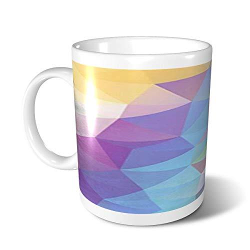 Cute Ceramic Mugs,Tea Cup,Funny Mugs,Personalized Coffee Mugs For Women Men-Irregular Con En Color Pastel Iris Con