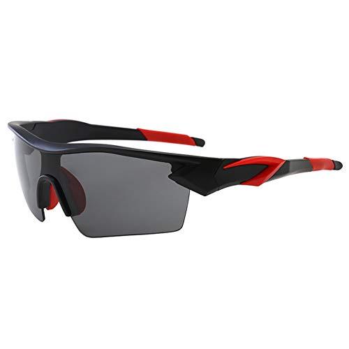 Joyfeel Buy - Gafas de sol para hombre, estilo deportivo, montura flexible, UV400, para montar al aire libre, actividades antisol