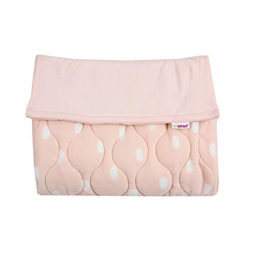 Minene UK - Coprigambe imbottito universale per passeggino, colore: Rosa chiaro e a pois bianchi