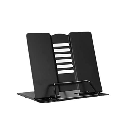 Libros Carpeta Lectura Shelf Wookends Clips Papelería plegable (Color : Fashion black)