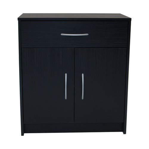 Devoted2Home Boldon | Lounge Furniture | 2 Door / 1 Drawer Sideboard | Cabinet Ash, Wood, Black Oak, 73.6x38.8x68.8 cm