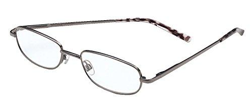 Foster Grant Reading Glasses Tolstoy Gunmetal Full Frame +3.50