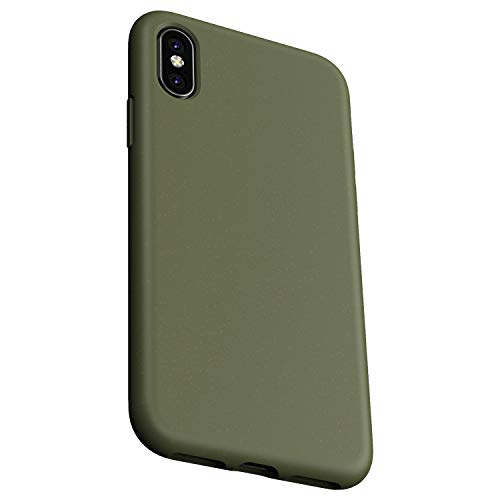 Danbey for iPhone Xs Max Case, 6.5 inches Display, Wheat Straw, Matte Surface, Drop Protection, 2mm Thick Flexible Soft Cover - Olive Green
