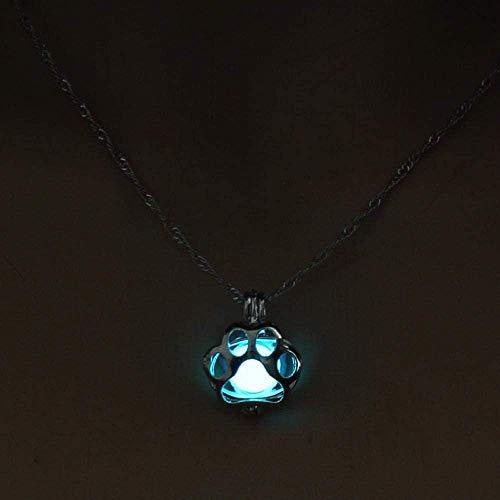 Collar Glow In The Dark Collar Lindo Luminoso Pata De Perro Collares...