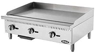 "Atosa ATMG-36 36"" Manual Countertop Gas Griddle"