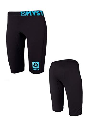 Mystic Watersports - Surf Kitesurf & Windsurfing Damen Bipoly Thermo Shorts Schwarz - Leichtgewicht - 88% Polyester, 12% Elasthan