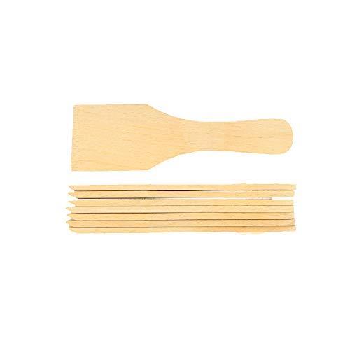 8x HOFMEISTER® Raclette-Schaber aus Holz, 13 cm, keine Kratzer mehr im Raclette-Pfännchen, kleiner Raclette-Spachtel aus Europa, schont beschichtete Raclette-Pfännchen, Buche, kein Plastik im Essen, hitzebeständiges & stabiles Raclette Zubehör (8 Stück)