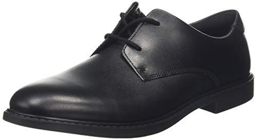Clarks Herren Scala Loop Y Derbys, Schwarz (Black Leather Black Leather), 38 EU