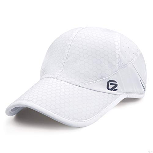 GADIEMENSS Sport Cap,Soft Brim Lightweight Running Hat Breathable Baseball Cap Quick Dry Sport Caps Cooling Portable Sun Hats for Men and Woman Performance Cloth Workouts and Outdoor Activities White