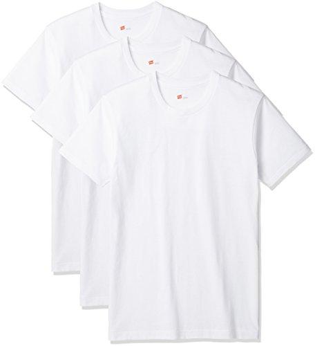 [ヘインズ] アオラベルクルーネックTシャツ 3枚組 HM2115G メンズ ホワイト S