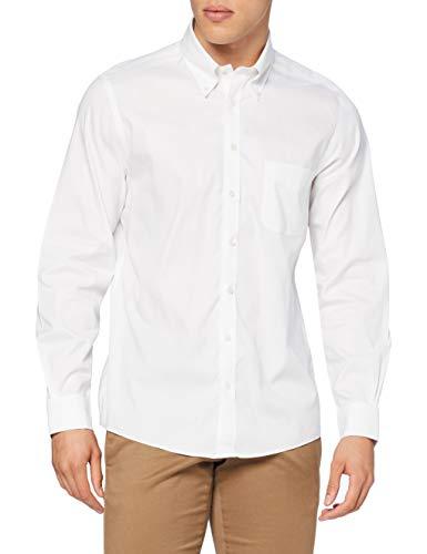 Brooks Brothers Herren Dress Pin Point Non Iron Milano Stretch Freizeithemd, Weiß (White 100), Small (Herstellergröße: 15 33)