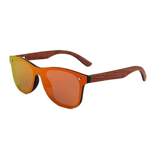 LX-LSX Occhiali da Sole Telaio in Metallo polarizzato Telaio in Legno di bambù UV400 Lenti Anti-UV Pellicola in Legno di Alta qualità per Uomini e Donne Occhiali protettivi per Esterni