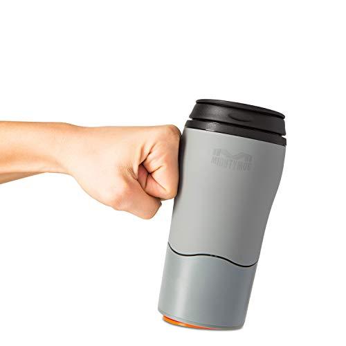 Mighty Mug Double Wall Plastic Travel Mug featuring No Spill Smartgrip Technology (Gray, 12oz)