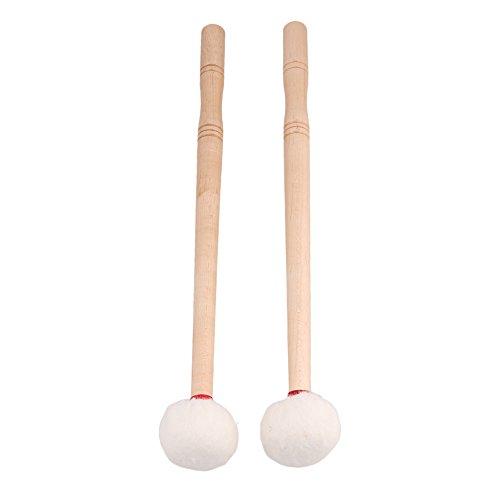 12 Inch Timpani Mallet Timpani Stick Multi-Purpose Felt Mallet Soft Felt Head Wood Handle Pack of 2