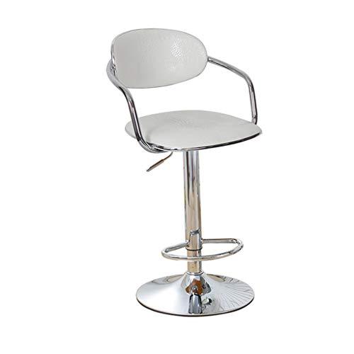 HWH Chaise de salle à manger, bar chaise ascenseur ordinateur chaise de jeu chaise bureau café réception caisse enregistreuse chaise fer art Pu fauteuil 60-80cm Divers (Couleur : G)