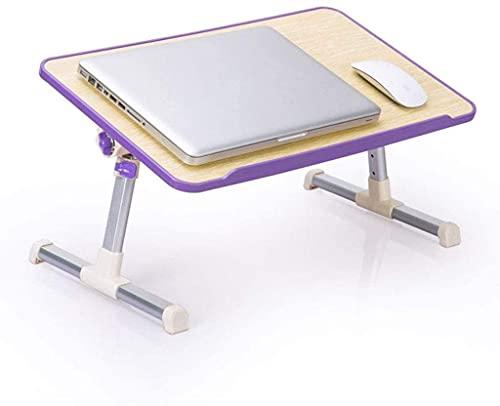 Mesa confiable para ordenador portátil, mesa de cama, portátil, mesa para estudiantes, lectura, estudio, escritorio, plegable, mesa pequeña (color: B)