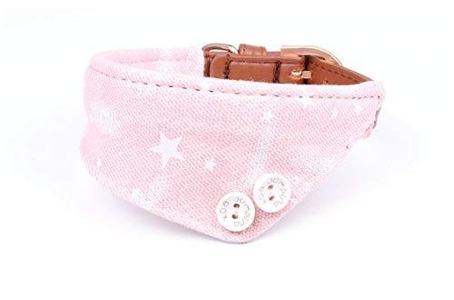 Formatio Halsbanden voor honden, zout handdoek, denim, roze, halsband voor huisdieren, voor alle seizoenen, zacht gevoerd, ademend, licht, aangenaam, wandelen, 1.3*34CM