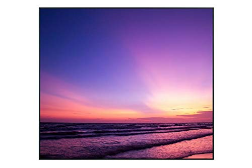 Ecowelle Infrarotheizung mit Bild | 350 Watt | 60x60 cm | Infrarot Heizung| | Made in Germany| (1) d 47 lila Sonnenuntergang