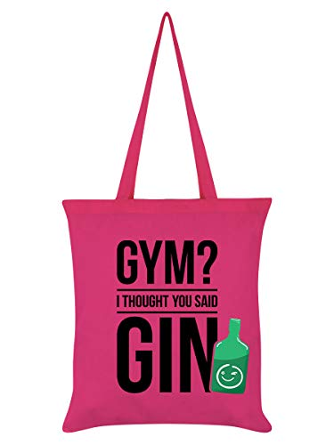 Real Slick Tees Tragetasche Gym? I Thought You Said Gin 38 x 42 cm rosa