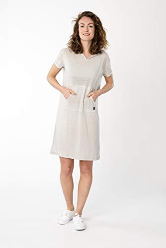 super.natural Whold Dress Robe pour Femme en Laine mérinos Gris Clair chiné Taille S