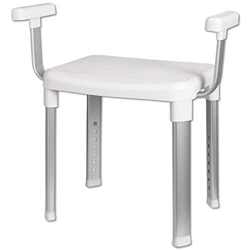 TW24 Wannensitz - Duschstuhl - Badewannenstuhl - Duschhocker mit Rückenlehne - Badsitze mit Modellauswahl (Dusch- und Badstuhl mit Armlehnen)