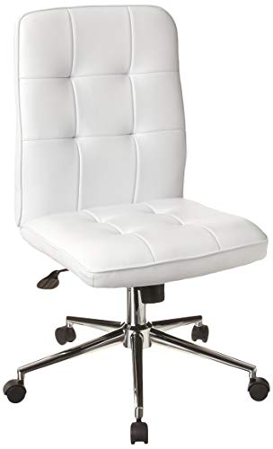 Boss Office Products Mellennial Modern Home Office Chair without Arms in White