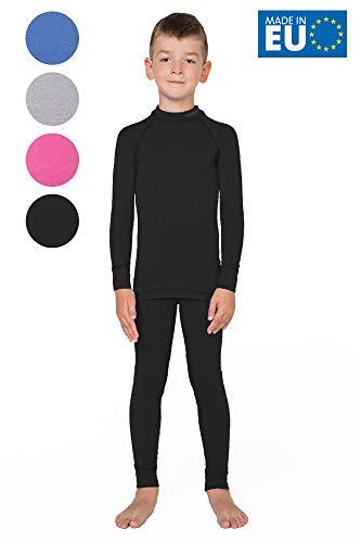 meteor Conjunto Ropa Interior Térmica para Niños - Camiseta de Manga Larga y Pantalón - Set Infantil Elástico para Esquí Snowboard Acampada y Senderismo para Niño y Niña