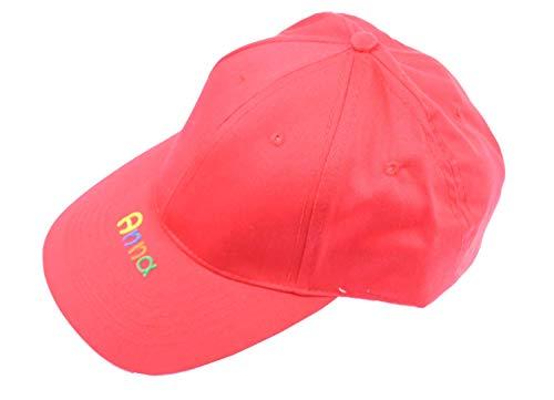 Cap Rot mit Namen - Personalisierte Kindercappy rot oder blau - Schirmmütze für Mädchen Jungen - Basecap für Kinder mit Wunschbeschriftung Cappy