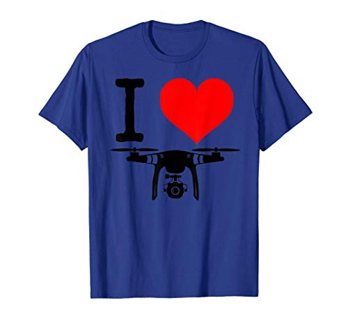 I heart drones funny I love Drone Flying Camiseta