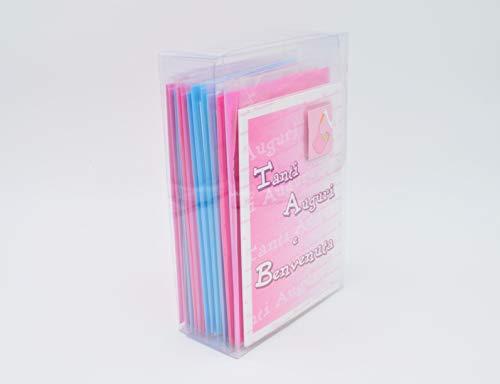 Italian Joy ASN-01 Oogural-kaarten voor de geboorte, 12 stuks