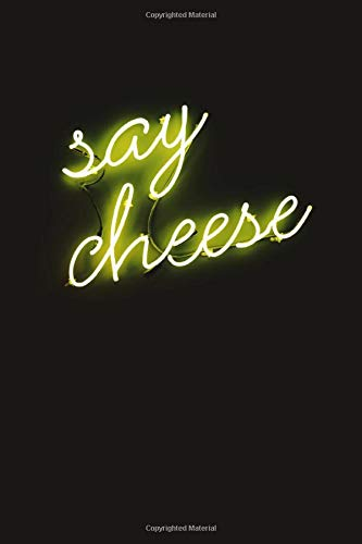 Say Cheese: Neon Sign Aesthetic Notebook Yellow Therapy Notes Log Calming Psychology Meditation Dream Journal Diary Van Gogh Tumblr Composition Notebook 100 sheets, 200 pages