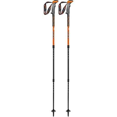 Leki Unisex_Adult Carbonlite Trekking Pole, Orange/White/Light Anthracite, standard size