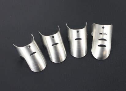 Ponacat Edelstahl Fingernagelschutz Handgeschnittener Schutz Sicheres Messermesser Werkzeug für Den Küchengebrauch 4St