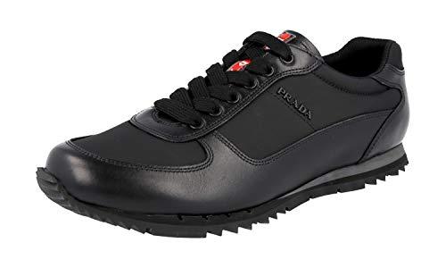 Prada Herren Schwarz Leder Sneaker 4E2721 42 EU/UK 8