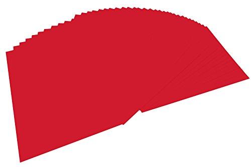 folia 6420 - Tonpapier hochrot, DIN A4, 130 g/qm, 100 Blatt - zum Basteln und kreativen Gestalten von Karten, Fensterbildern und für Scrapbooking