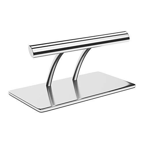 physa Reposapiés Para Sillón De Peluquería PHYSA FR-5 (Fabricado en acero inoxidable, Altura: 17,5 cm, Ancho 35 cm, Perfil oval)