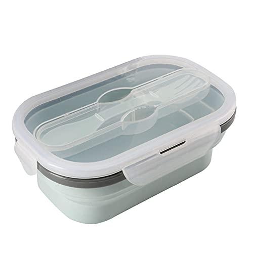 GYY Caja De Almuerzo Plegable De Silicona Portátil Plegable Durable Ensalada Alimento Recipiente Recipiente Tazón De Vajilla Accesorios De Cocina (Color : 01)