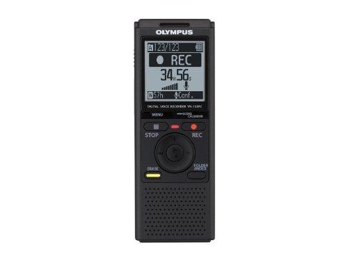 Olympus VN-733PC Registratore Vocale Digitale, Memoria Integrata 4 GB, Slot MicroSD/MicroSDHC, Nero